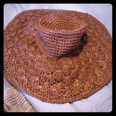 2 Brown big floppy hats Cute and spring ready. Perfect for summer Accessories