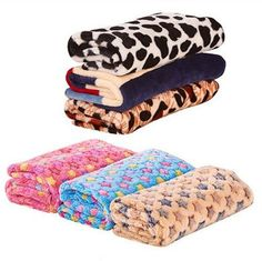 Fund Coral Fleece Blanket Star Print Assorted Color Dog Cat Warm Bed Mat Print Cushion S40X60CM Pink Star >>> Continue to the product at the image link.