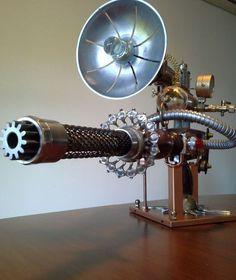 Steampunk Gun - work in progress (artist unknown) - file. Style Steampunk, Steampunk Weapons, Steampunk Gadgets, Steampunk Cosplay, Steampunk Design, Steampunk Lamp, Steampunk Fashion, Gothic Steampunk, Steampunk Machines