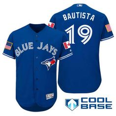 7b5cd995c Men s Toronto Blue Jays  19 Jose Bautista Royal Blue Stars   Stripes  Fashion Independence Day MLB Majestic Cool Base Stitched Jersey