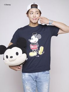 PARK BO GUM MODELS FOR EDWIN & DISNEY