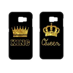 King Queen Coque Cover Case for Samsung Galaxy 2016 Note 2 3 4 5 Core Prime Grand Prime Grand Neo Alpha Galaxy J5, Samsung Galaxy S3, Samsung Galazy, Coque Samsung J3 2016, Accessoires Samsung, Telephone Samsung, Couple Cases, S5 Mini, Coque Iphone