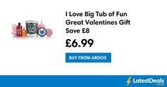I Love Big Tub of Fun Great Valentines Gift Save £8, £6.99 at Argos