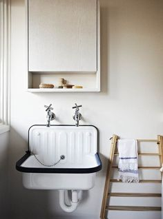 Love this large farm style sink....I could wash all my cashmere sweaters in style!