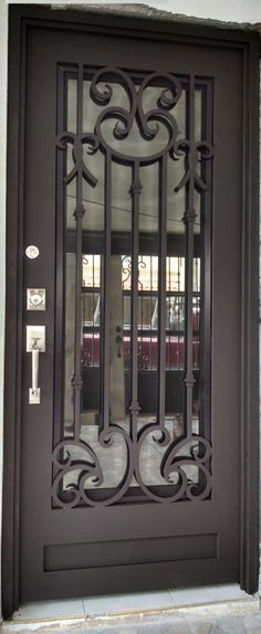 Door Grill, Grill Door Design, Door Gate Design, Main Entrance Door, Entry Doors, Iron Front Door, Steel Security Doors, Entry Stairs, Iron Balcony