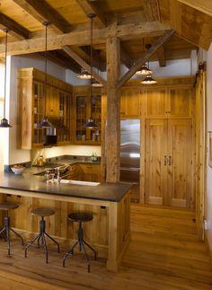 Rustic cabin ideas rustic cabin decor rustic cottage decorating ideas small cabin decor idea all i Rustic Cabin Kitchens, Rustic Kitchen Design, Rustic Design, Rustic Farmhouse, Cottage Kitchens, Farmhouse Style, Design Rustique, Rustic Cottage, Cabin Homes