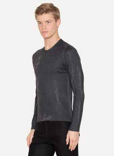 Cashmere Virgin Wool Silk Lunar Sweater from Label Under Construction