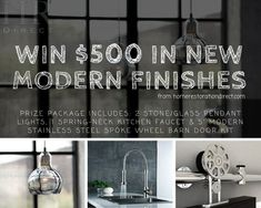HOME Restoration Direct is giving away over $500 in modern home finishes! #Giveaway  #sweepstake  Visit us at homerestorationdirect.com to find out how direct ship importing can save you a bundle on your next project. Put today's global economy to work for you. #remodeling #remodelingonabudget #renovationproject