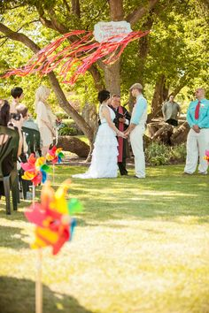 Rainbow pinwheels!