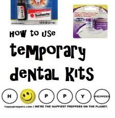 Temporary dental kits (how to use them)… http://happypreppers.com/temporary-dental.html