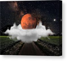 Mars Canvas Print featuring the mixed media Mars by Marvin Blaine