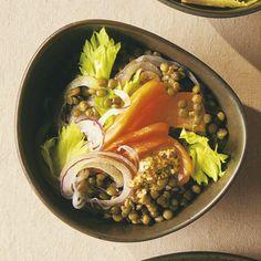 Lentilles et saumon