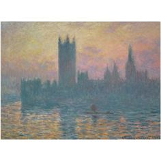 Trademark Fine Art The Houses of Parliament Sunset Canvas Art by Claude Monet, Size: 18 x 24, Multicolor