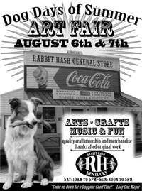 Dog Days of Summer Art Fair Rabbit Hash Kentucky
