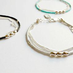 Bracelets en argent Douros - 3 coloris - Natasha r