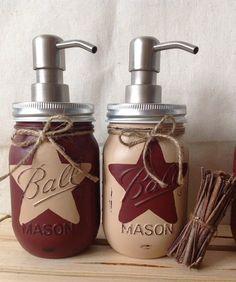 Set of 2 Rustic Star Mason Jar Soap by MidnightOwlCandleCo on Etsy