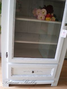 Shabby chic cabinet makeover