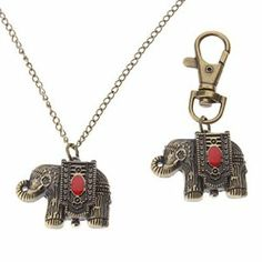 Tanboo Unisex Elephant Style Alloy Analog Quartz Keychain Necklace Watch (Bronze) by Tanboo. $8.99. Necklace Watches, Keychain Watches. Casual Watches. Children's, Women's, Men's Watche. Gender:Children's, Women's, Men'sMovement:QuartzDisplay:AnalogStyle:Necklace Watches, Keychain WatchesType:Casual WatchesBand Material:AlloyBand Color:BronzeCase Diameter Approx (cm):3.5Case Thickness Approx (cm):1Band Length Approx (cm):7cm,42.5cmBand Width Approx (cm):1.3cm,0.2cm