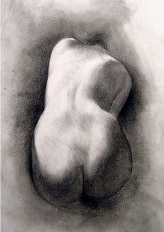 Fine Art Life Drawing Figure Study Charcoal