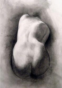 Fine Art Life Drawing Figure Study Charcoal