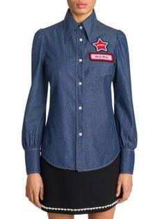 decad2dabb82  miumiu  cloth  shirt Denim Button Down