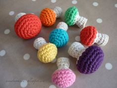 Crochet Toadstool - Tutorial  ❥ 4U // hf