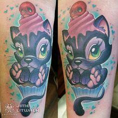 Tattoo by artist Jime Litwalk @jimelitwalk  @ascension_tattoo in Orlando FL  http://ift.tt/1Tf6aWd  #cute #girly #cat #cupcake #picoftheday #tattoooftheday #tatuador #tattoos #tattooart #supportgoodtattooers #tattooedlife #instagood #instadaily #tattoosforlife #tattoosofinstagram #tattoocloud #photooftheday #bestoftheday #tattooartistmagazine @tattooartistmagazine @tattoo.artists