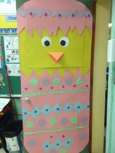 Easter classroom door - Porte de classe Pâques