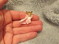 Miniature handmade MINI TINY TOY BABY GIRL DOLLY ooak DOLLHOUSE ARTIST DOLL 1/12