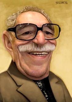 Caricatura de Gabriel García Márquez.