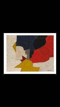 Serge Poliakoff - Composition, 1954 - Huile sur toile - 89 x 116 cm - Lille, Palais des Beaux-arts Robert Delaunay, Tachisme, Kandinsky, Cubism, Colour Palettes, Composition, Empire, Mixed Media, Abstract Art
