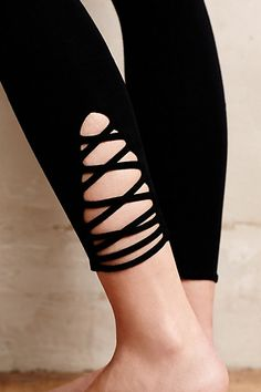 Anthropologie LACE-UP LEGGINGS #anthrofave