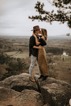Gorgeous Mountaintop Engagement Session in Cummings, GA Engagement Photo Outfits, Engagement Photo Inspiration, Engagement Couple, Engagement Pictures, Engagement Session, Mountain Engagement Photos, Engagements, Couple Photoshoot Poses, Couple Photography Poses