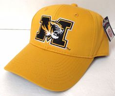 New MISSOURI TIGERS HAT Men/Women STRUCTURED-FIT Curved Snapback Yellow Mizzou #Signatures #MissouriTigers