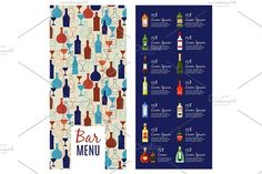 Bar menu template by ssstocker on @creativemarket