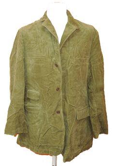 BRUMLA.CZ – Značkový dětský a dospělý second hand a outlet, použité oděvy pro děti a dospělé - Pánské olivové manžestrové sako zn. Land´s End vel. L