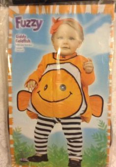 Giddy Goldfish Costume Halloween Dress Up Play Cosplay Nemo Fish 12-24 Months  | eBay