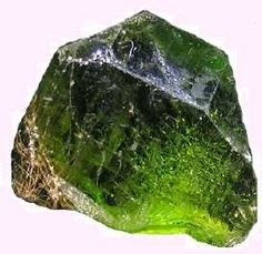 Olivine is made up of a solid solution of two other minerals, approximately (85%) Fosterite (Mg SiO2) and (15%) Fayalite (Fe SiO2). Having cooled with time, the mantle of our planet Earth, is no longer hot enough, (in excess of 3,000° C) to produce ultramafic, Olivine bearing magmas.