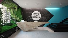 Wall mural at Publicis office by Greenery + Stone