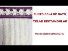 PUNTO COLA DE GATO TELAR RECTANGULAR // Puntos basicos telar maya
