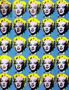 Twenty-five Colored Marilyns Revisited, by Andy Warhol.