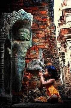 Siem reap, Cambodia, little prayer
