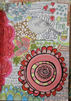 great art journal page