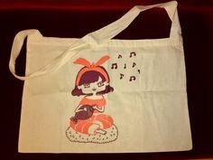 Shrimp-Sushi girl eco bag!