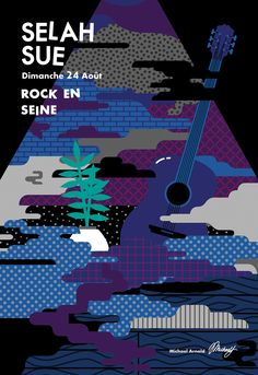 I contributed to the Rock En Seine Festival in Paris on a gig poster for the musician Selah Sue 🚬 🎸 Selah Sue, Rock En Seine, Halftone Pattern, Collaborative Art, Vaporwave, Rock Art, The Rock, Book Design, I Am Awesome