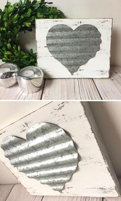 Metal Wall Art - Wall Decor - Wedding Decor - Wood Signs - Heart - Rustic Signs - Sign #affiliate