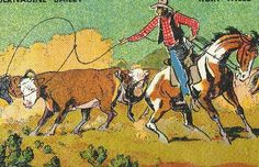 1950 Texas Childrens School Book Wild West Lone by TheIDconnection, $35.00