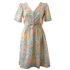 Rose Print Shirt Dress (M)