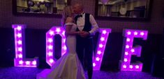 LED Love Letters are a beautiful touch at night time and can help create some stunning wedding photo opportunities Wedding Venues, Wedding Photos, Civil Ceremony, Industrial Wedding, Wedding Wishes, On Your Wedding Day, Wedding Suits, Night Time, Getting Married