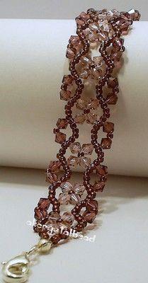 Amethyst Swarovski Crystal Bracelet#3
